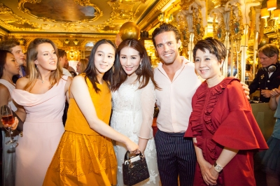 Sabrina Ho Taking London Social Scene By Storm Ella Mountbatten, Alice Ho, Sabrina Ho, Spencer Mathews and Angela Leong (L-R)
